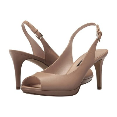 ナインウェスト レディース ヒール シューズ Gabrielle Slingback Peep Toe Pump Light Natural Leather