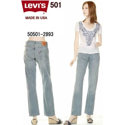 LEVI'S LADY'S JEANS 50501-2893 MADE IN USA 赤耳 セルビッチ レディース LEVIS 501 リーバイス 501 アメリカ製 米国【リーバイス501...