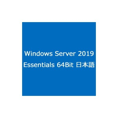 マイクロソフト(Microsoft) 〔DVD〕Windows Server 2019 Essentials 64Bit 日本語 (G3S01195)