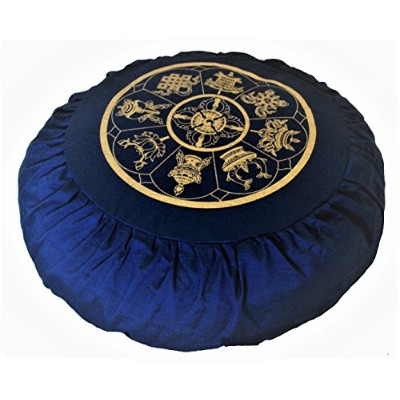ヨガ フィットネス Boon Decor Meditation Cushion Zafu Buckwheat Pillow Eight Auspicious Sacred Symbols -...