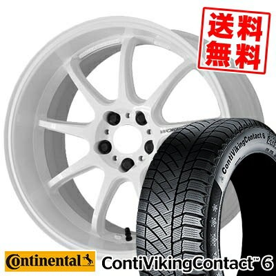 215/60R17 CONTINENTAL コンチネンタル ContiVikingContact6 コンチバイキングコンタクト6 WORK EMOTION D9R ワーク エモーション D9R...