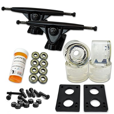 トラック スケボー スケートボード 海外モデル 直輸入 071-Gel Clear Wheel-Polished Trucks Yocaher LONGBOARD Skateboard TRUCKS...