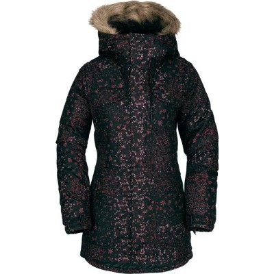 ボルコム Volcom レディース スキー・スノーボード アウター【Shadow Insulated Snowboard Jacket 2019】Black Floral Print