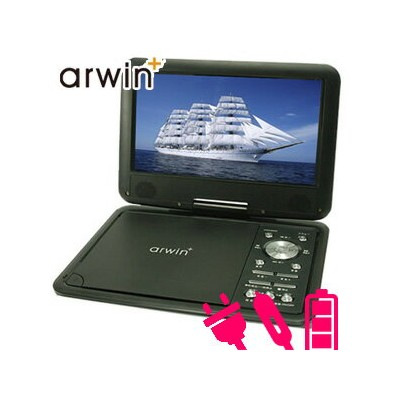 arwin DVDプレーヤー ポータブル 3電源 車載バッグ リモコン 付き CPRM レジューム 本体 AC DC バッテリー 内蔵 APD-903N ポータブルDVDプレーヤー 9インチ DVD...