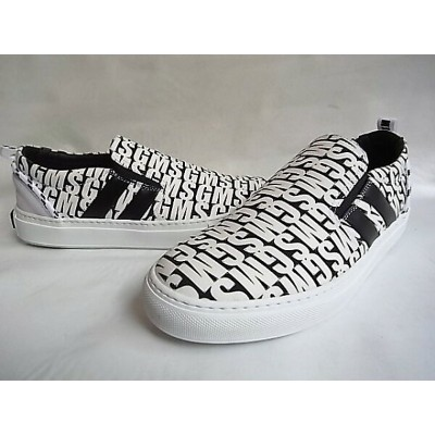 "MSGM(エムエスジーエム)【CANVAS×LEATHER SLIP ON SNEAKERS】""MSGM LOGO""スリップオンスニーカー★"