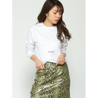 [Rakuten BRAND AVENUE]LETTERS LS REGULAR T X-girl エックスガール カットソー【送料無料】