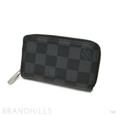 dfe776c85ee7 ルイヴィトン コインケース メンズ レディース ダミエ グラフィット ジッピー コインパース N63076 LOUIS VUITTON 美