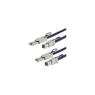 CableCreation 2- Pack External HD Mini SAS SFF - 8644to SFF - 8088ケーブル、3.3Ft/1mブラック。。。