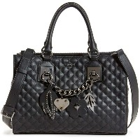 ゲス GUESS STASSIE SOCIETY SATCHEL (BLACK) レディース