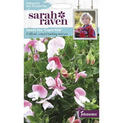 【輸入種子】Johnsons Seeds Sarah Raven Brilliant for Bees & Butterflies Sweet Pea Cupid Pinkサラ・レイブン スイート...