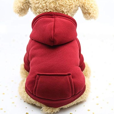 Gyvoxz - Dog Hoodies Pet Clothes For Dogs Coat Jackets Cotton Dog Clothes Puppy Pet Overalls For...