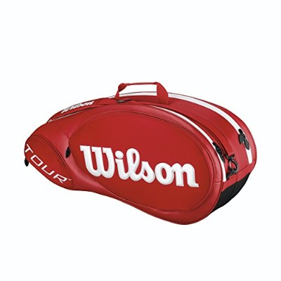 Wilson Tour Molded 2.0 6本用 レッド ラケットバッグ