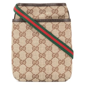 Gucci Pre-Owned GG Shelly Line ショルダーバッグ - ブラウン