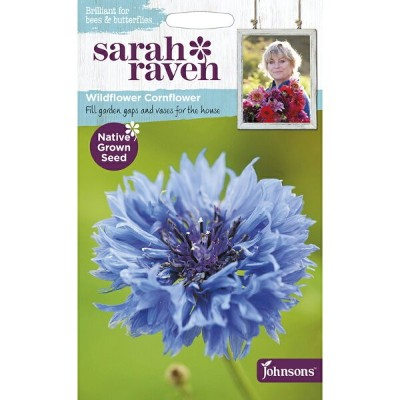 【輸入種子】Johnsons SeedsSarah Raven Brilliant for Bees & Butterflies Wildflower Cornflower サラ・レイブン・ビー...