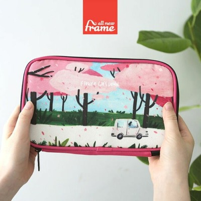 All New Frame Multi Pouch Collection A マルチポーチ 化粧ポーチ パスポートケース 旅行ポーチ モバイルバッテリーポーチ 会社用ポーチ かわいい 営業ポーチ...
