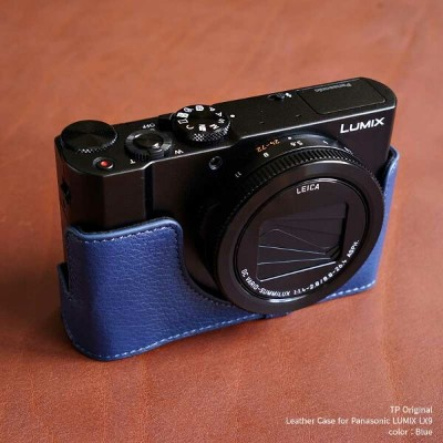TP Original Leather Camera Body Case for Panasonic LUMIX LX9 Blue ブルー パナソニック ルミックス DMC-LX9 本革...