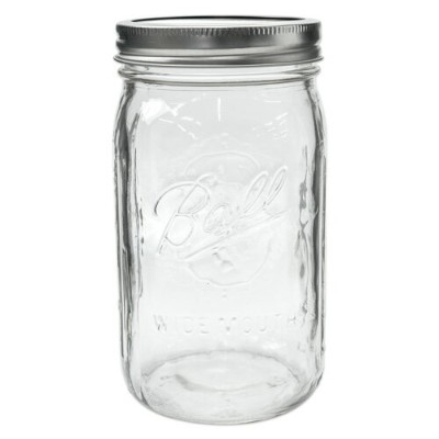 [Outlet SALE] ボールメイソンジャー ワイドマウス 940ml / Ball Mason Jar Wide Mouth 32oz