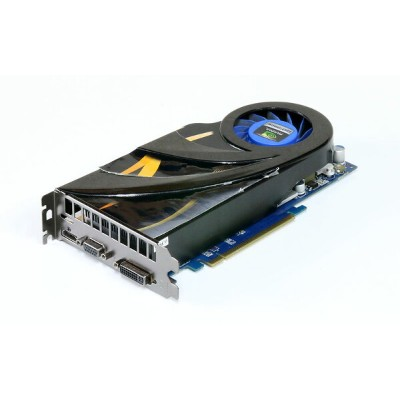 玄人志向 GeForce GTS250 512MB HDMI/VGA/DVI PCI Express2.0 x16 GF-GTS250-E512HD2 シール剥がれ有り【中古】