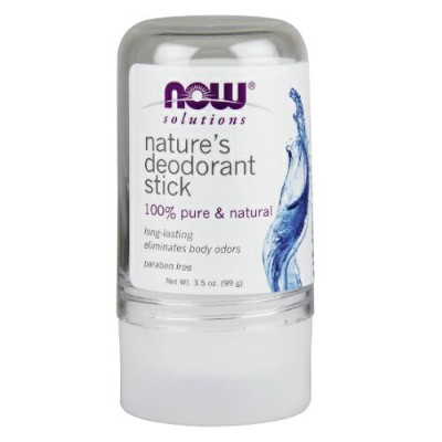 NOW FOODS Nature's Deodorant Stick Stone 100% Pure Natural ナウフーズ デオドラント クリスタル ストーン