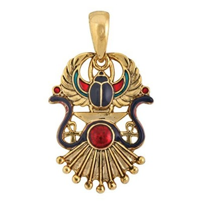 Egyptian Winged Scarab Pendant Jewellery Accessory Egypt Necklace Art