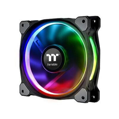 THERMALTAKE Radiator Fan TT Premium Edition CL−F059−PL12SW−A RGB LED