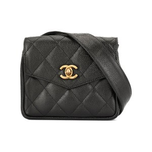 Chanel Pre-Owned ロゴ ベルトバッグ - ブラック