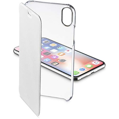 Cellularline iPhone XS ケース 手帳型 クリア スリム CLEAR BOOK for iPhone XS/X