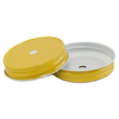 [SUPER PRICE] Yellow Regular Mouth Complete Lid With 9mm Hole レギュラーマウス用 蓋9mm穴付き 黄色 1個