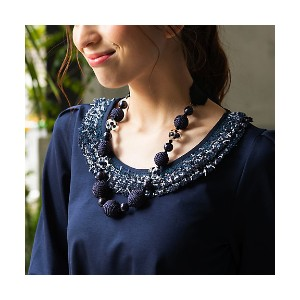 【SALE(伊勢丹)】 TO BE CHIC/TO BE CHIC  リュバンネックレス(W5V48135__) アオ【三越・伊勢丹/公式】 アクセサリー~~ネックレス・ペンダント~~レディース...