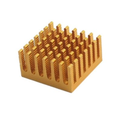 uxcell 冷却フィン 28mm x 28mm x 15mm CPU RAM アルミ ヒートシンク 1個入り