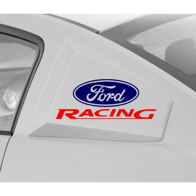 FORD RACING 20cm VINYL DECAL STICKER (NAVY BLUE & RED)