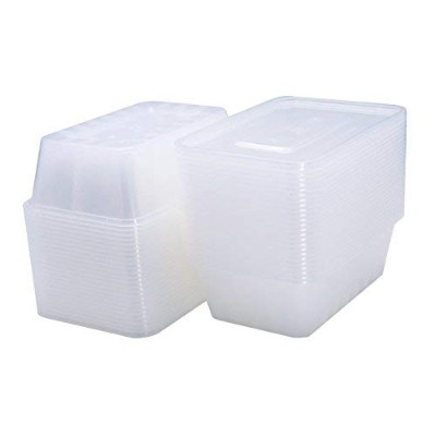 DGQ食品ストレージコンテナwith Lids – 25oz 50pk Meal Prepコンテナ使い捨てContainers with Lids