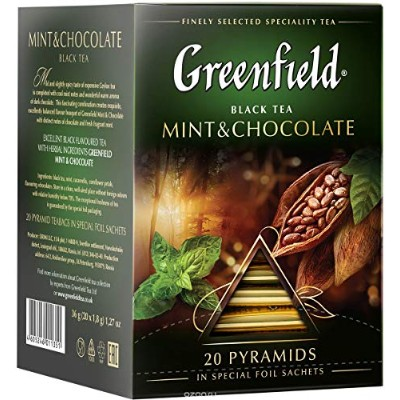 Greenfield tea Pyramid collection (Mint and chocolate)