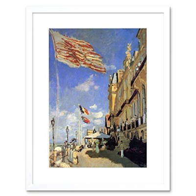 Painting Monet Hotel De Roches Noires Trouville Framed Wall Art Print ペインティングモネホテル壁