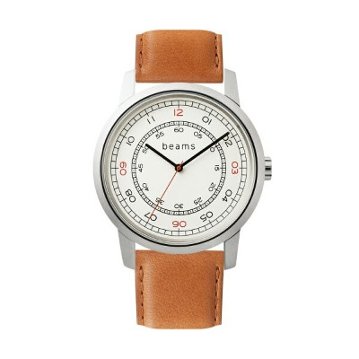 Three Hands Silver beams edition + wena wrist leather 22mm Tawny Brown
