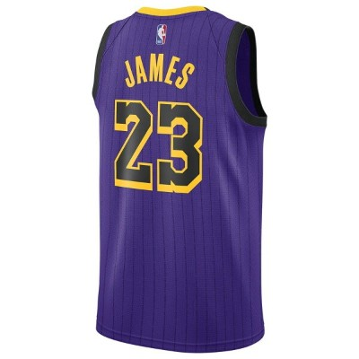 ナイキ Nike メンズ バスケットボール トップス【NBA City Edition Swingman Jersey】NBA Los Angeles Lakers Lebron James...