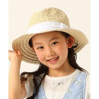 【3can4on(Kids)(サンカンシオン(キッズ))】 レースリボン中折れハット OUTLET > 3can4on(Kids) > 帽子 > ハット ライトベージュ