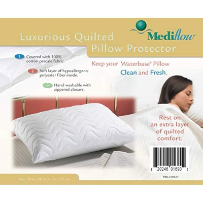 Mediflow 200 Thread Count Quin Size Quilted Pillow Cover