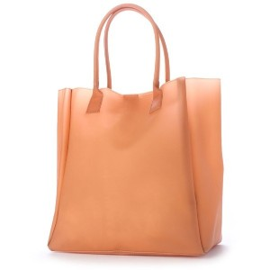 【SALE 50%OFF】ヒッチハイクマーケット HITCH HIKE MARKET smooth vinyl tote (オレンジ) レディース