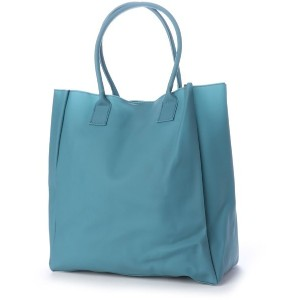 【SALE 50%OFF】ヒッチハイクマーケット HITCH HIKE MARKET smooth vinyl tote (ブルーグリーン) レディース