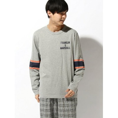 【SALE/30%OFF】nudie jeans FRANKLIN&MARSHALL/(M)プリントロングTシャツ ヌーディージーンズ / フランクリンアンドマーシャル カットソー Tシャツ グレー...