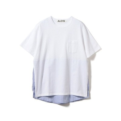 [Rakuten BRAND AVENUE]ALOYE / Shirt Fabrick Layered Tee 19SS BEAMS T ビームスT カットソー【送料無料】