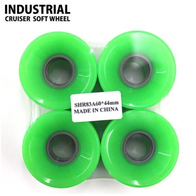 スケートボード ソフトウィール INDUSTRIAL CRUISER-SOLID GREEN 60X44mm 83A WHEEL