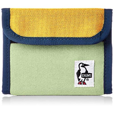 [チャムス] Trifold Wallet Sweat Nylon CH60-2688-M060-00 H.Jade/Yellow
