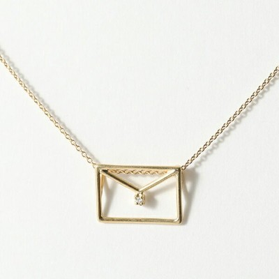 ALIITA アリータ CARTA BRILLANTE DIAMANTE NECKLACE WITH WHITE DIAMOND ネックレス ペンダント 9KT-YELLOWGOLD
