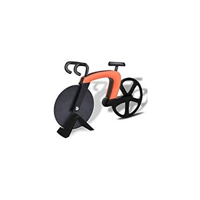 (Orange) - Bangy Bicycle Pizza Cutter Wheel Kitchen & Dinning Non-stick Stainless Steel Pizza...