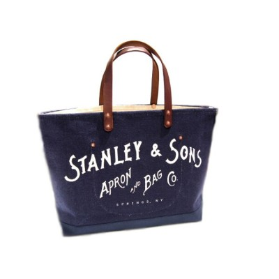 STANLEY & SONS (スタンレー&サンズ)/STANDARD LOGO TOTE(L) MADE IN U.S.A.(トートバッグ)/navy x natural