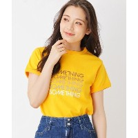 【grove(グローブ)】 SOMETHING Tシャツ OUTLET > grove > トップス > Tシャツ イエロー