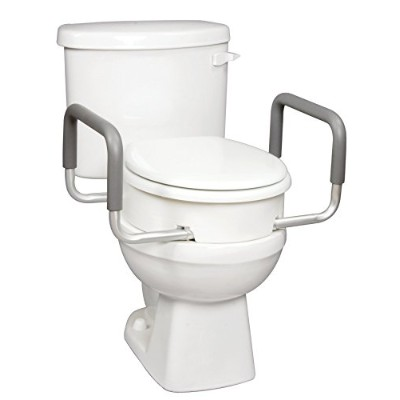 Carex Health Brands Toilet Seat Elevator with Handles for Standard Round Toilets by Carex Health...