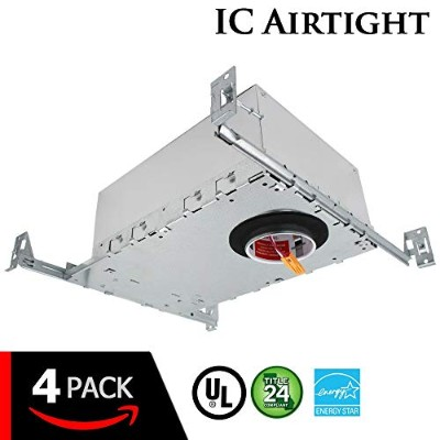 """ESD Tech 2 """"インチLED新しい建設RecessedハウジングCan with Driver天井のダウンライト。Airtight、ic-rated、調光機能付き、UL Listed..."""